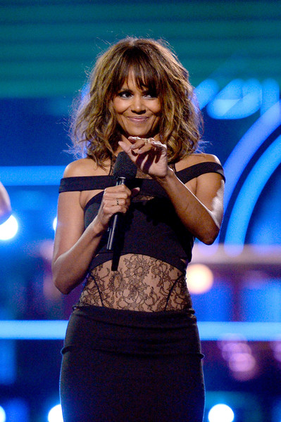 Actress Halle Berry speaks onstage during the 2016 MTV Movie Awards at Warner Bros. Studios on April 9, 2016 in Burbank, California. MTV Movie Awards airs April 10, 2016 at 8pm ET/PT.