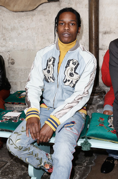 ASAP Rocky attends the Gucci Cruise 2017 fashion show at the Cloisters of Westminster Abbey on June 2, 2016 in London, England.