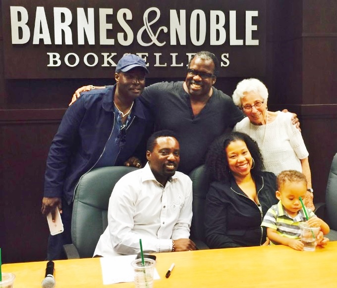 """Antwone Fisher joins """"Bev"""" co-authors Matty Rich, Andrea Wiliams & Meredith Kopald. June 2016 Los Angeles, CA"""