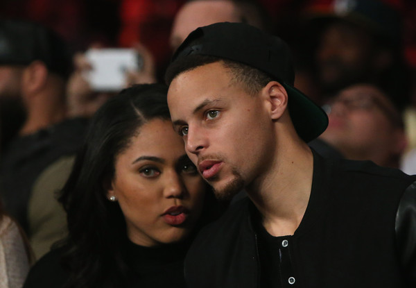 Stephen Curry #30 of the Golden State Warriors and his wife Ayesha attend the Andre Ward fight against Sullivan Barrera in their IBF Light Heavyweight bout at ORACLE Arena on March 26, 2016 in Oakland, California.