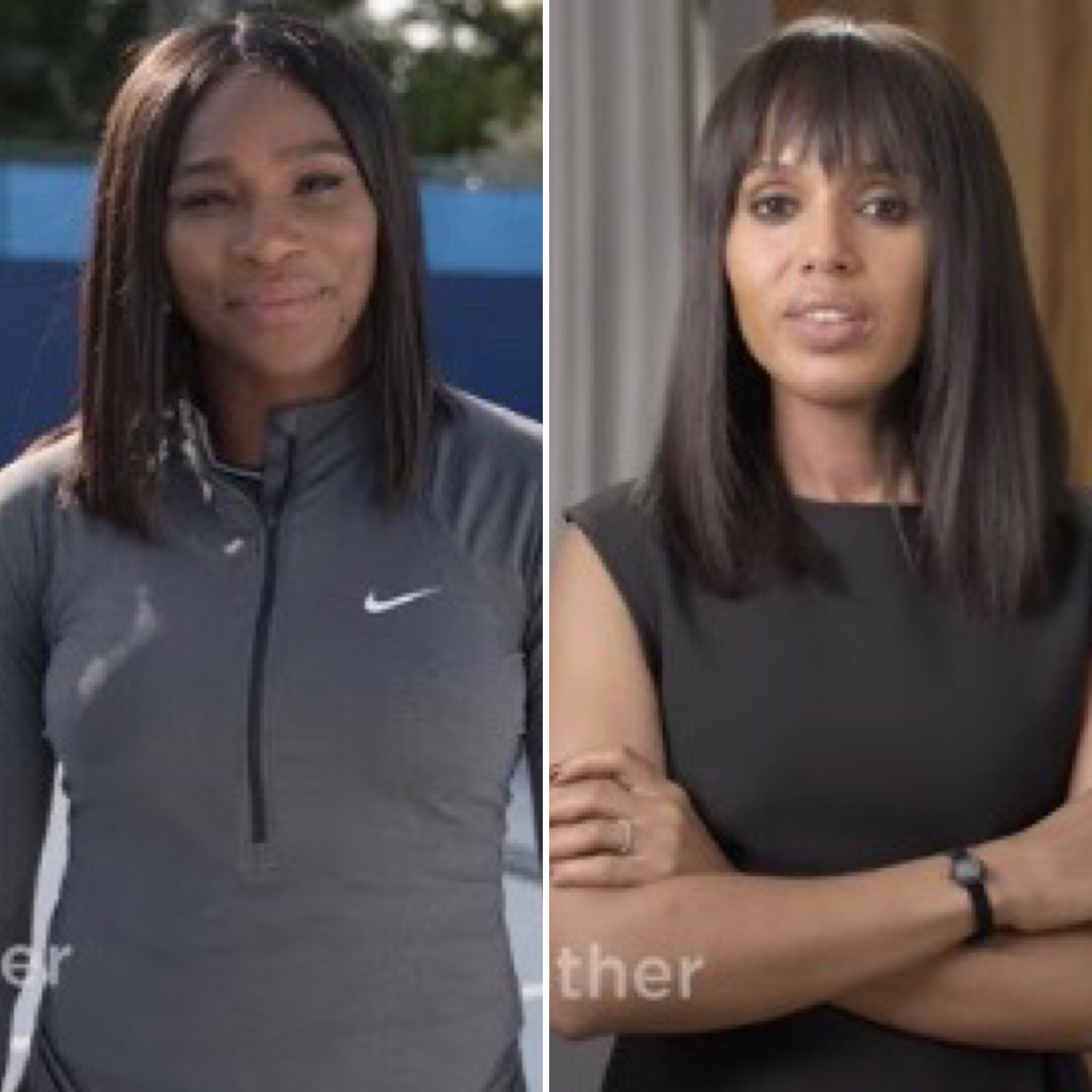 """Serena Williams and Kerry Washington in LeanIn.org's """"Together Women Can"""" ad"""