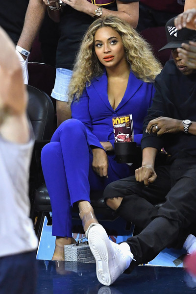 Beyonce attends Game 6 of the 2016 NBA Finals between the Cleveland Cavaliers and the Golden State Warriors at Quicken Loans Arena on June 16, 2016 in Cleveland, Ohio.