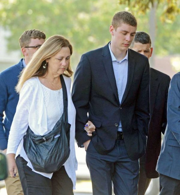 Brock Turner and mother