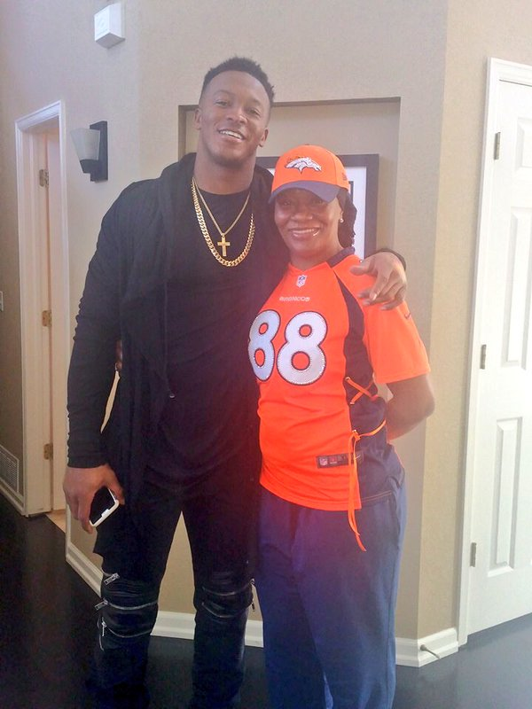Demaryius Thomas and his mom, Katina Smith