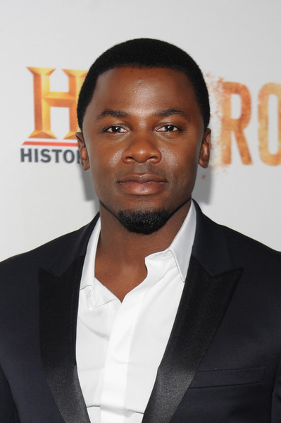"""Actor Derek Luke attends the premiere screening of """"Night One"""" of the four night epic event series, """"Roots,"""" hosted by HISTORY at Alice Tully Hall on May 23, 2016 in New York City."""
