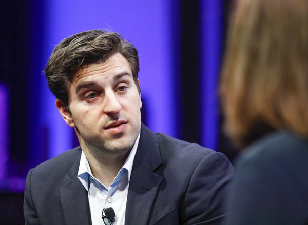 Brian Chesky speaks during the Fortune Global Forum - Day 3 at the Fairmont Hotel on November 4, 2015 in San Francisco, California.
