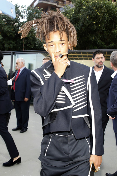 Jaden Smith attends Louis Vuitton 2017 Cruise Collection at MAC Niter on May 28, 2016 in Niteroi, Brazil.