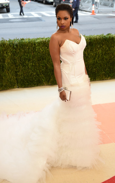Jennifer Hudson arrives for the Costume Institute Benefit at The Metropolitan Museum of Art May 2, 2016 in New York. / AFP / TIMOTHY A. CLARY