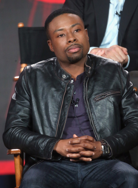 """Actor Justin Hires speaks onstage during the """"Rush Hour"""" panel discussion at the CBS/ShowtimeTelevision Group portion of the 2015 Winter TCA Tour at the Langham Huntington Hotel on January 12, 2016 in Pasadena, California"""