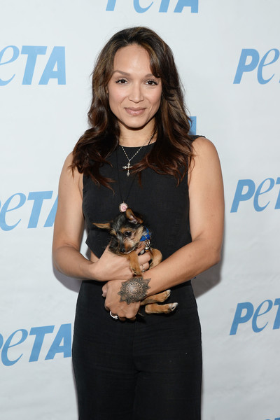 Actress/dancer Mayte Garcia attends the LA launch party for Prince's PETA Song at PETA on June 7, 2016 in Los Angeles, California.