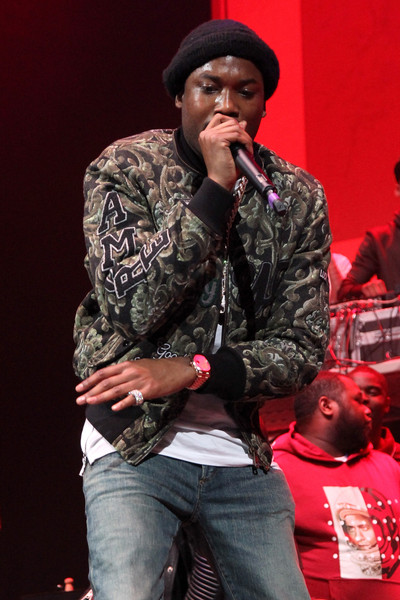 Rapper Meek Mill performs onstage during 105.1Â's Powerhouse 2015 at the Barclays Center on October 22, 2015 in Brooklyn, NY.