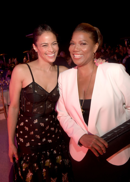 Actress Paula Patton (L) and honoree Queen Latifah attend the 15th Annual Chrysalis Butterfly Ball at a Private Residence on June 11, 2016 in Brentwood, California.