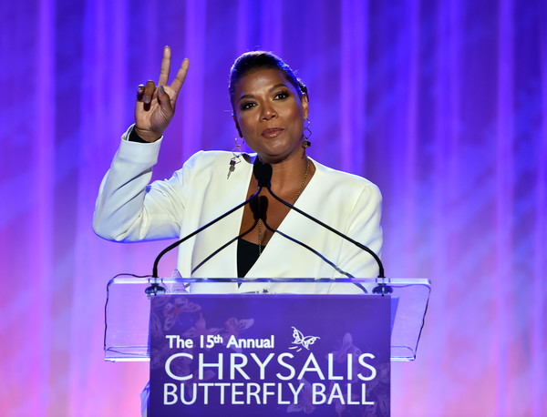 Honoree Queen Latifah speaks onstage at the 15th Annual Chrysalis Butterfly Ball at a Private Residence on June 11, 2016 in Brentwood, California.