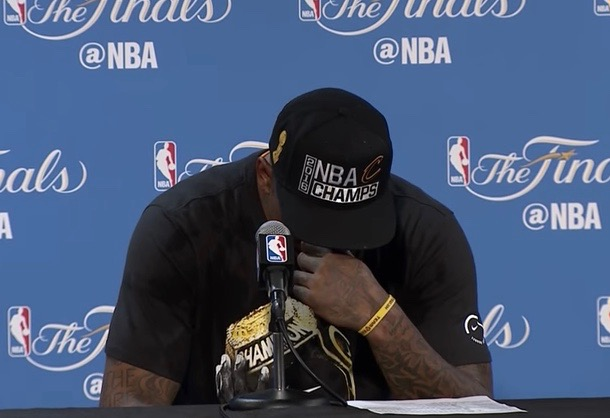 Cleveland Cavaliers player J.R. Smith after winning the NBA Finals