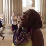 Woman's Impromptu National Anthem Stops DC Tourists in their Tracks (Watch)