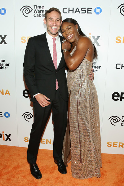 Ryan White (L) and Tennis Player Serena Williams attend the EPIX New York Premiere of 'Serena' on June 13, 2016 in New York City.