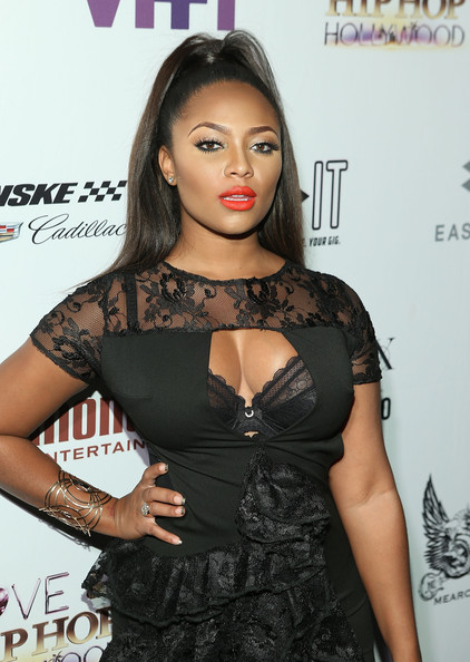 TV personality Teairra Mari attends the Love & Hip Hop: Hollywood Premiere Event on September 9, 2014 in Hollywood, California.