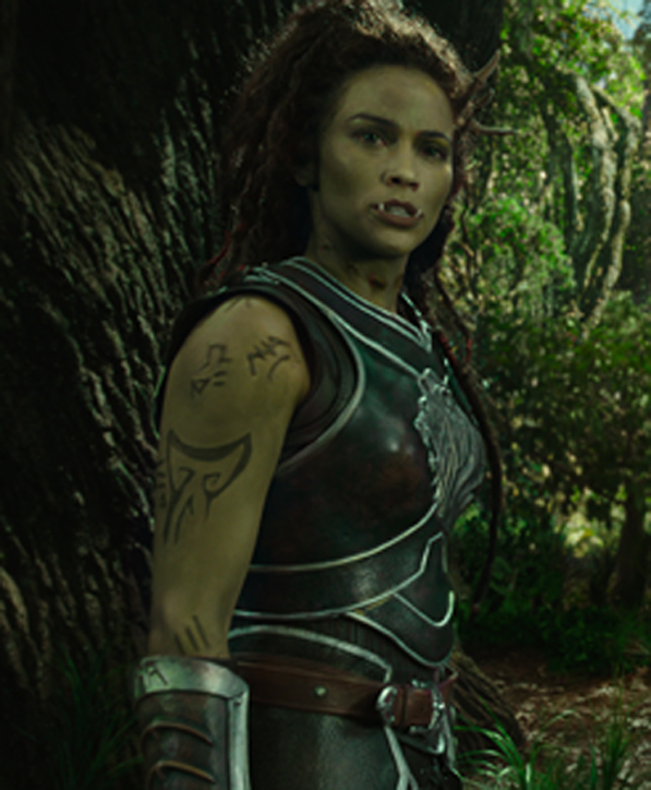 Paula Patton rocks the orc look in 'Warcraft.'