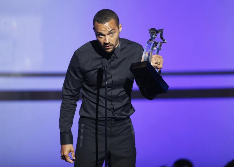 Actor Jesse Williams accepts the Humanitarian Award at the 2016 BET Awards at the Microsoft Theater on June 26, 2016 in Los Angeles, California.