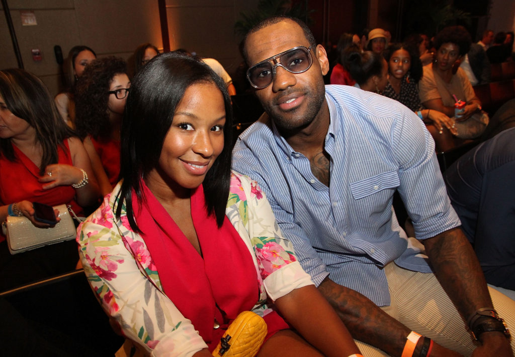 MIAMI BEACH, FL - OCTOBER 27: (L-R) Savannah Brinson and Lebron James attend The Juice Foundation Reception and Fashion Show at W South Beach Hotel & Residences on October 27, 2012 in Miami Beach, Florida. (Photo by Aaron Davidson/Getty Images for W South Beach Hotel & Residences)