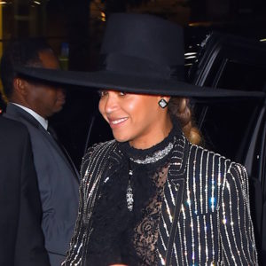 Beyonce outside the 2016 CFDA Fashion Awards at the Hammerstein Ballroom on June 6, 2016 in New York City.