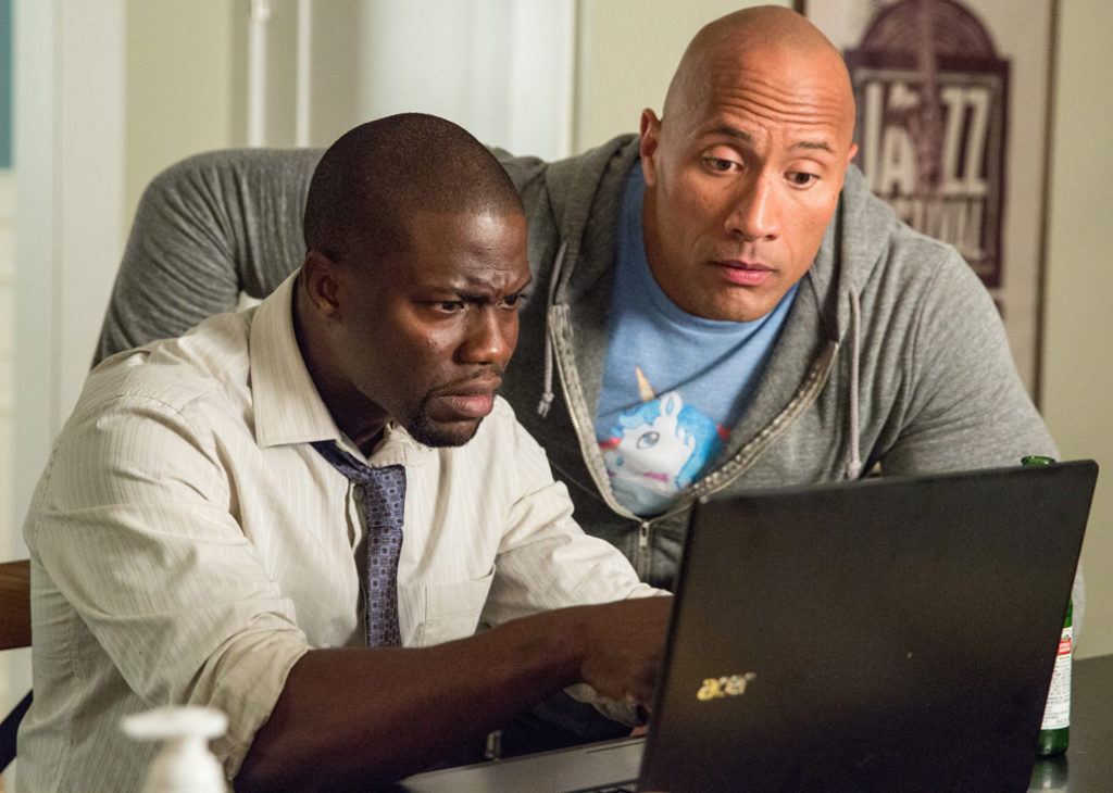 Kevin Hart and Dwayne Johnson in a scene from 'Central Intelligence.'