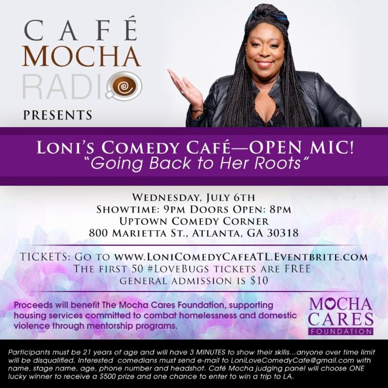 Loni's Comedy Cafe, Salute Her Awards, Mocha Cafe, Mocha Cares Foundation