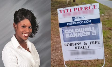"Titi Pierce and the real estate sign from ""The Ellen DeGeneres Show"""