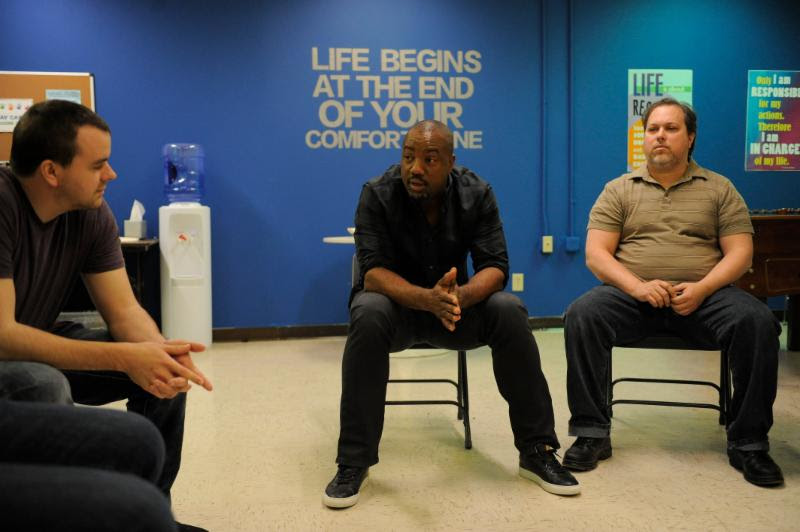 Malik Yoba as leads a counseling session from Bad Dad Rehab. Photo courtesy TV One.