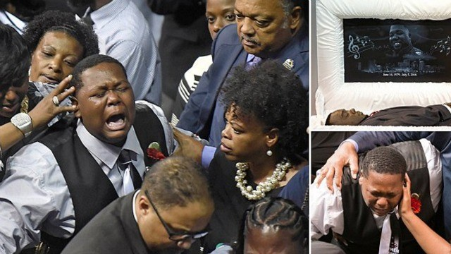 Cameron Sterling Breaks Down at Father (Alton Sterling) Funeral