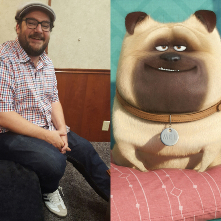 Bobby Moynihan and his character Mel (MMoore Photo [left]) .