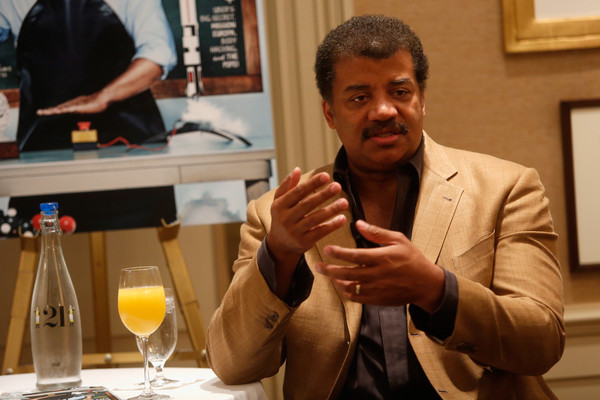 Astrophysicist, Cosmologist, and Author Neil Degrasse Tyson speaks at the Popular Science Hosted Breakfast and Banter event with Editor-In-Chief Chris Ransom and Astrophysicist, Cosmologist, and Author Neil Degrasse Tyson at 21 Club on September 18, 2015 in New York City.