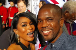 Actress Angela Bassett with Black Hollywood Live Executive Producer - Derrial Christon