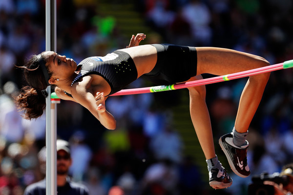 Vashti Cunningham competes in the Women's High Jump Final during the 2016 U.S. Olympic Track & Field Team Trials at Hayward Field on July 3, 2016 in Eugene, Oregon.