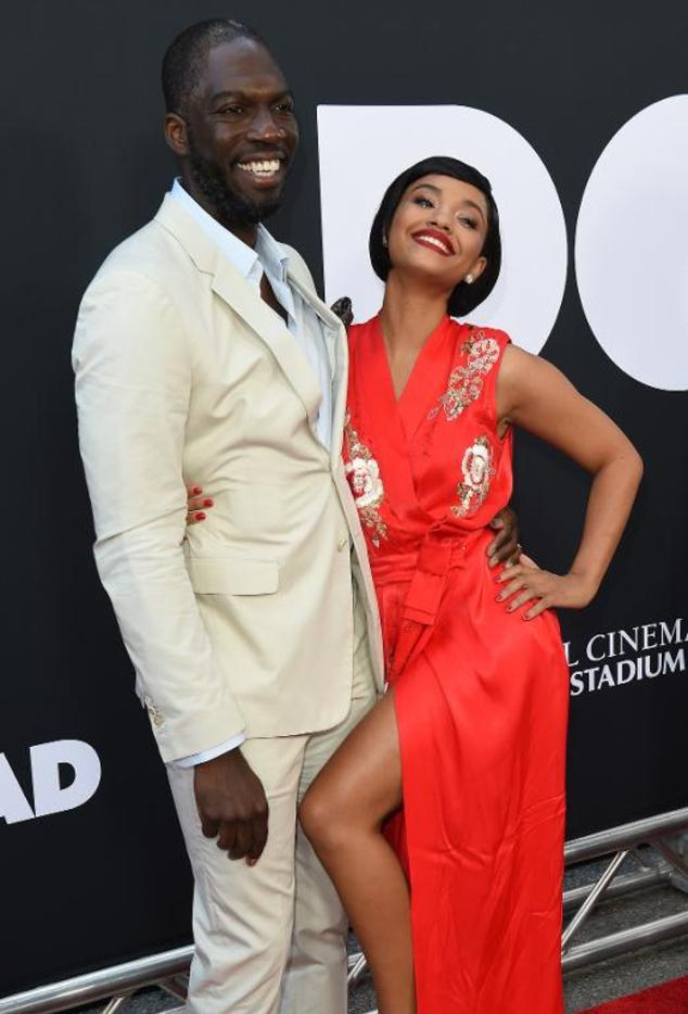Writer/Director and Producer Rick Famuyiwa (L) and Actress Kiersey Clemons attend the Los Angeles premiere of the movie 'Dope' at Regal Cinemas LA. Live in Los Angeles, California on June 8, 2015.