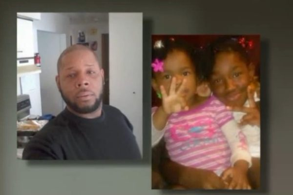 L-R: Dionus M. Neely and his two daughters, 3-year-old Endia and 10-year-old Elle