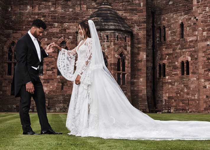 Ciara And Rus Wilson S Official Wedding Photos Include Bridesmaids Kelly Rowland Lala Anthony