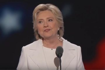hillary clinton 2016 dnc acceptance speech - screenshot
