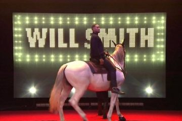 will smith - tonight show - horse
