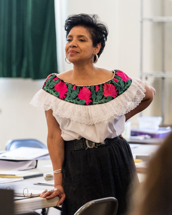 """Director Phylicia Rashad on the first day of rehearsal for August Wilson's """"Ma Rainey's Black Bottom"""" at Center Theatre Group/Mark Taper Forum. Photo by Craig Schwartz."""
