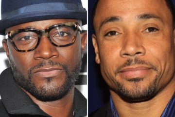 Taye Diggs (L) and Rodney Harrison