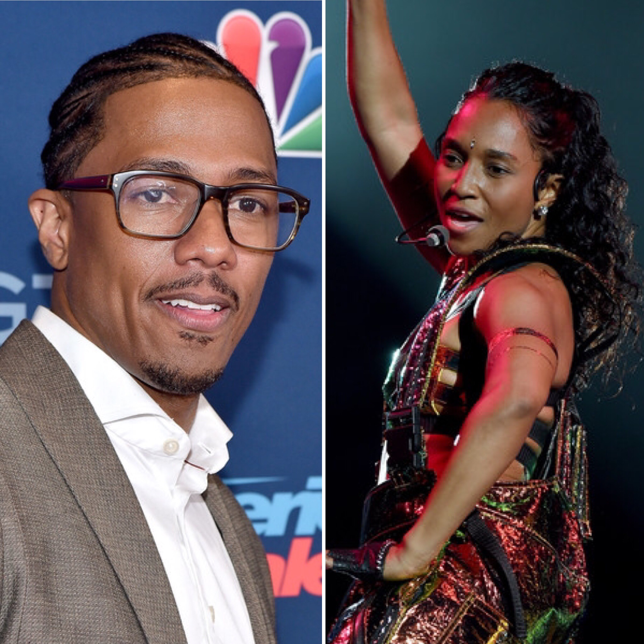 "Nick Cannon and Rozonda ""Chilli"" Thomas"