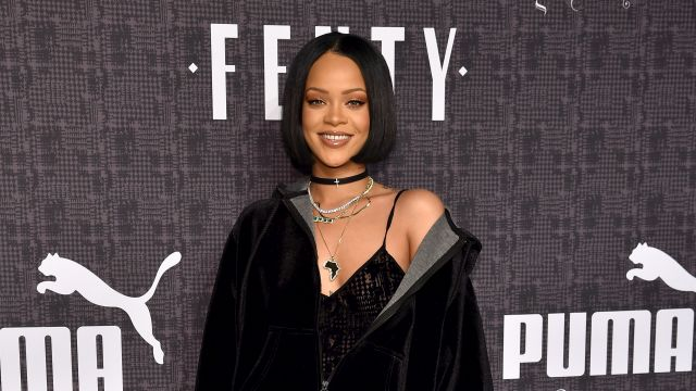 NEW YORK, NY - FEBRUARY 12: Rihanna attends the FENTY PUMA by Rihanna AW16 Collection during Fall 2016 New York Fashion Week at 23 Wall Street on February 12, 2016 in New York City. (Photo by Dimitrios Kambouris/Getty Images for FENTY PUMA)