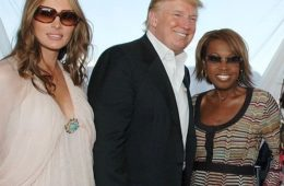 Melania Trump, Donald Trump, and Star Jones Reynolds attend the Mercedes-Benz Polo Challenge At JetOne Jets Field August 18, 2007 in Bridgehampton, New York.