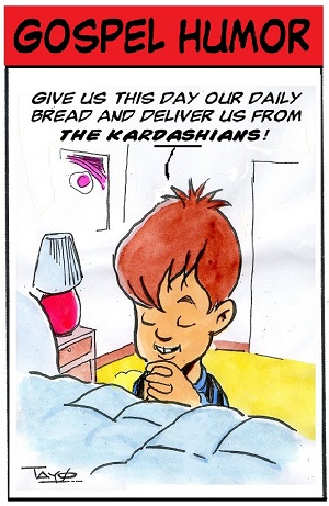A GOSPEL HUMOR pocket cartoon as it at appears in Light of The World newspaper