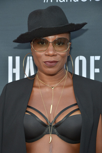 """Actress Aisha Hinds attends the Amazon premiere screening for original drama series """"Hand Of God"""" at The Theatre at Ace Hotel on August 19, 2015 in Los Angeles, California."""