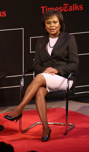 """Professor of law at Brandeis University, Anita Hill poses for photos during TimesTalks Presents: Kerry Washington And Anita Hill """"Confirmation"""" at The Times Center on April 8, 2016 in New York City."""