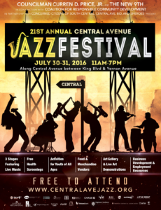 Central Avenue Jazz Festival postcard: Photo Credit, Ricky Richardson