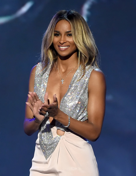 Recording artist Ciara speaks onstage during the 2016 ESPYS at Microsoft Theater on July 13, 2016 in Los Angeles, California.