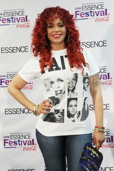 Singer Faith Evans poses for a photo backstage during the 2016 ESSENCE Festival presented by Coca Cola at the Louisiana Superdome on July 1, 2016 in New Orleans, Louisiana.